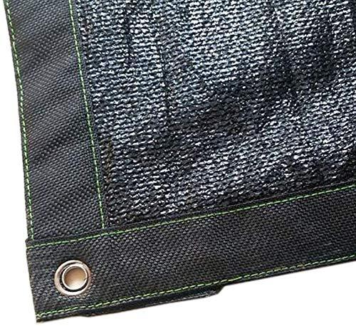 Lanxing Außen schwarz Schatten Tuch Shading Net Premium-Heavy Duty 85% Shade mit Tüllen und Verstärkung Umschlingungswinkel (Größe: 4M × 6M) Größe: 5M × 10M (Size : 6M×6M)
