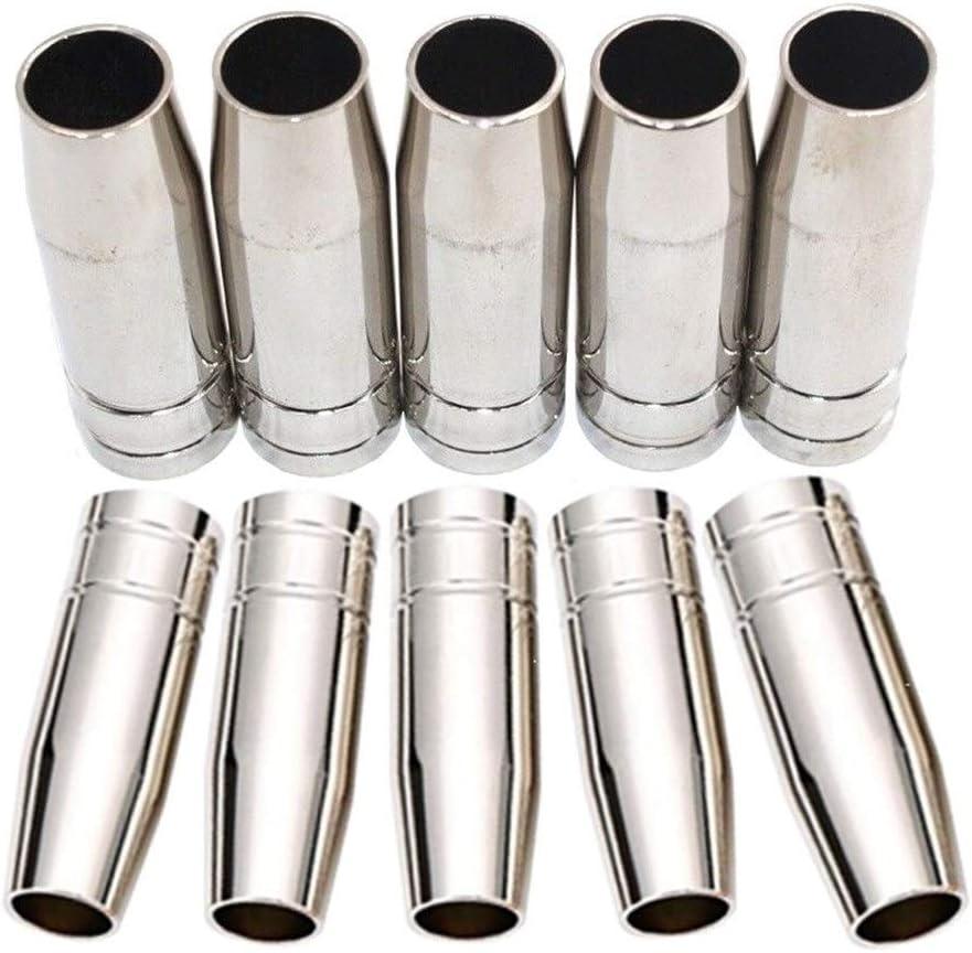 LOPQOI 10pcs Large discharge sale MIG Welding Gun Tip Soldering Nozzle 14AK for MB Cup Shield 1