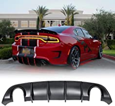 Rear Bumper Diffuser Fits 15-19 Dodge Charger SRT OE Style Rear Lip Bumper Valance Diffuser PP