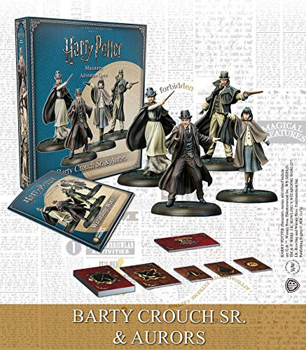 Knight Models Harry Potter Miniatures 35 mm 4-Pack Wizarding Wars Barty Crouch Sr. & Aurors *E