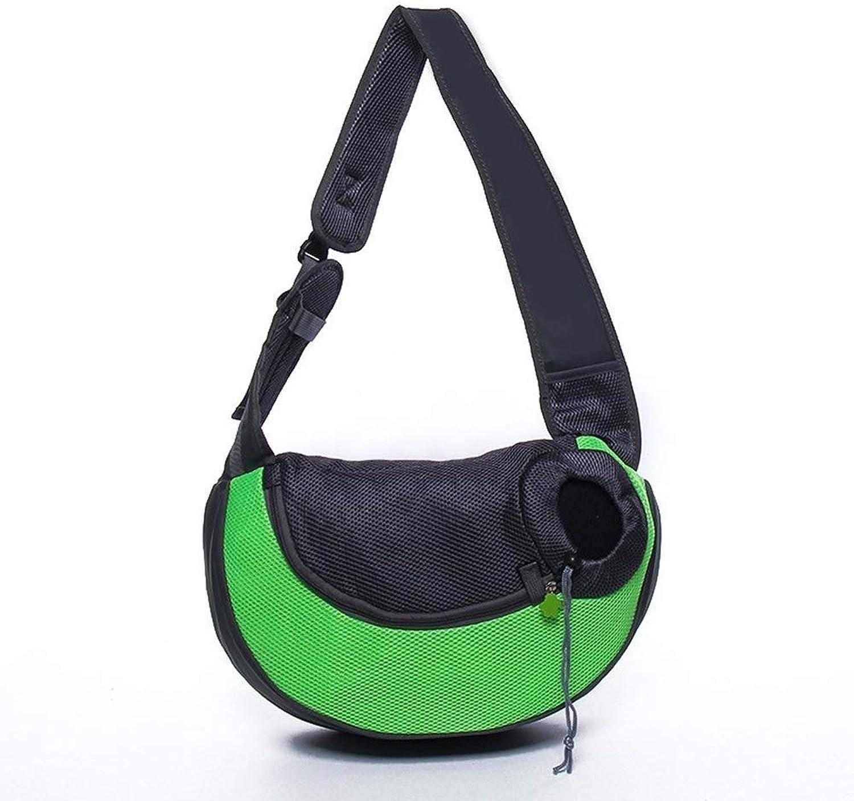 RedGoodThings Pet Supplies Multicolor Breathable Retractable Cat and Dog Pet Outdoor Handbag (color   Green, Size   45  13  28cm)