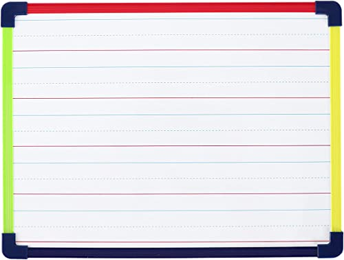 wholesale Dry Erase online Board, wholesale Magnetic Whiteboard 2-Sided 9 x 12 Inches with Colored Frame, Handwriting Lines Front Blank Back sale