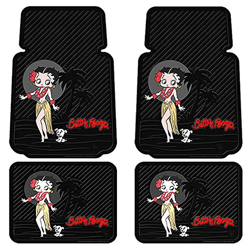 U.A.A. INC. 4pc Betty Boop Aloha Floor Mat Set
