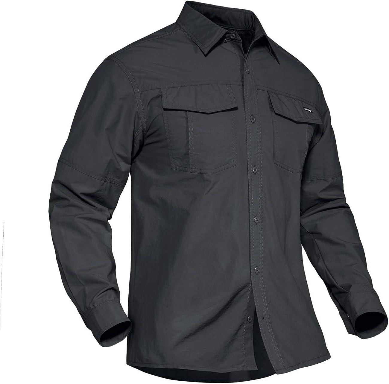 overseas TACVASEN Men's Tactical Shirts Quick Sun Protection Dry 35% OFF Lightwei