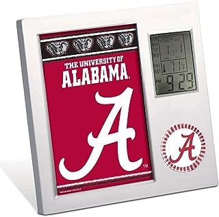 WinCraft NCAA University of Alabama Desk Clock, Black