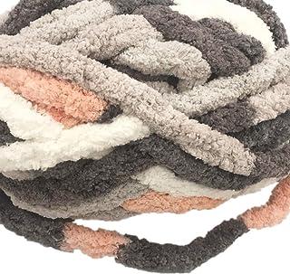 Bulky Chunky Arm Knitting Yarn Big Yarn ,Super Softee Thick Fluffy Jumbo Chenille Polyester Yarn for Blanket Pillows Home ...