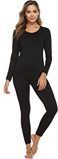 YAWOVE Thermal Underwear for Women Fleece Lined Thermals Ultra Soft Base Layer Long John Set S-XXL