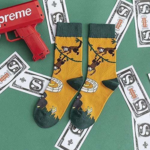 JINGYINYI Sokken, mannen en vrouwen, koppels, sandalen, sokken, buitenkleding, katoen, kousen@A5