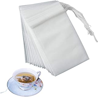 MQ Tea Filter Bags, Disposable Tea Infuser with Drawstring for Loose Leaf Tea Herb Soup and Coffee (50)