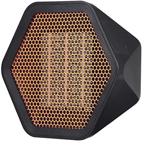 ACEWD Estufa Eléctrica De Bajo Consumo Portátil, Mini Calefactor Cerámico Silencioso,Negro