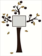 Wall Decor Plus More Tree Wall Art for Family Room or Live Room Decor Wall Sticker Decal - Chocolate Brown Tree and Tan Leaves