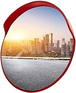 Traffic Mirror, Outdoor Wide-Angle Convex Mirror Safety Mirror, Round Rod Installation with Adjustable Bracket, for Lane B...
