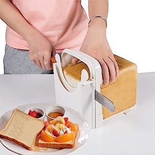 Bread Slicer Toast Slicer Adjustable Cutting Guide for Homemade Bread Bagel Roast Cake Sandwish Loaf Slicing Cutter Mold C...