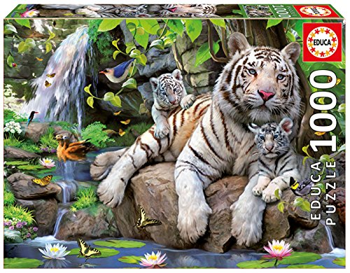 Educa 14808 - Puzzle - Bengalische weiße Tiger, 1000-Teilig