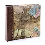 (15cm x 10cm ) - Kenro Holiday and Travel Series Memo Photo Album, Old World Map Design, for 200...