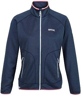 Regatta Women's Cinley II Hybrid Stretch Side Panels Full Zip Softshell Jacket, BlueOpal/Navy, 16