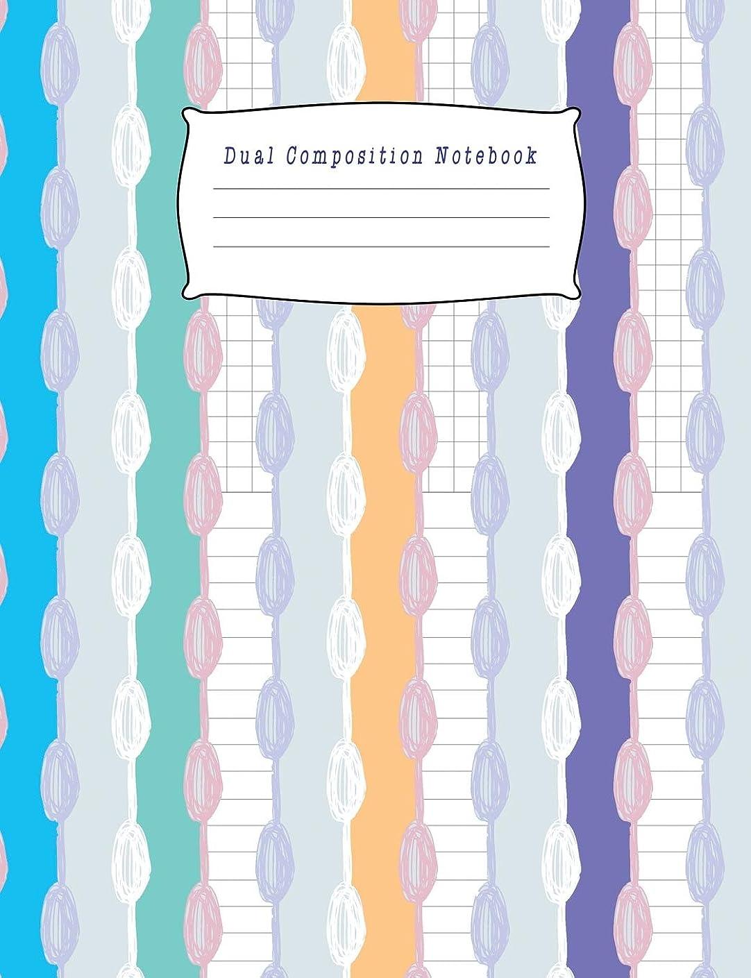 アンプ著名な強いますDual Composition Notebook: Half College Ruled / Half Graph 4x4 mixed paper styles on one sheet to get creative: Coordinate, grid, squared, math paper, for plot designs, craft projects, write accompanying notes, draw sketches, Diary Journ