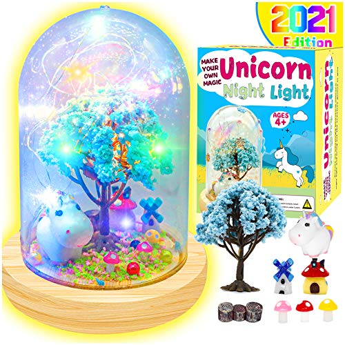 TONULAX Unicorns Gifts for Girls - Create Your Own Unicorn Night Light, Unicorn Craft Kit for Kids, Unicorn Toys for Girls, Kids Arts and Crafts Lamps, Gift for 5 6 7 8 9 10 Year Old Girl