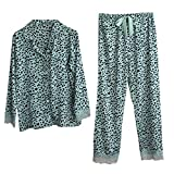 Pijamas Mujer Manga Larga Conjuntos De Pijamas De Satén De Color Leopardo, Pantalones Largos, Pijamas De...