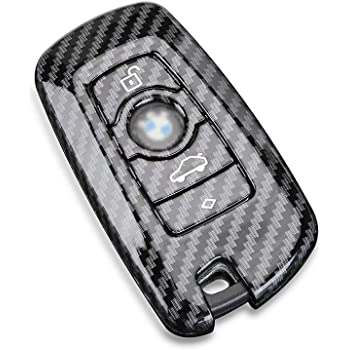 Rpkey Leather Keyless Entry Remote Control Key Fob Cover Case protector Replacement Fit For BMW X5 X6 M5 M6 128i 135i 328i 335i 525i 528i 530i 535i 535i xDrive 550i 645Ci 650i KR55WK49127 KR55WK49123