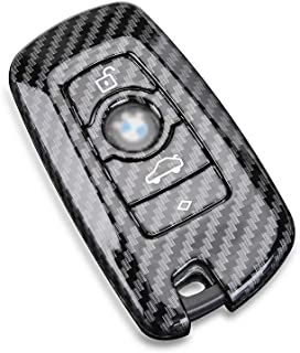 DOHON Key Fob Remote Cover for BMW, Carbon Fiber Key Protective Case for BMW X3 X4 GT3 GT5 1 2 3 4 5 Series, 1pc, Gloosy B...