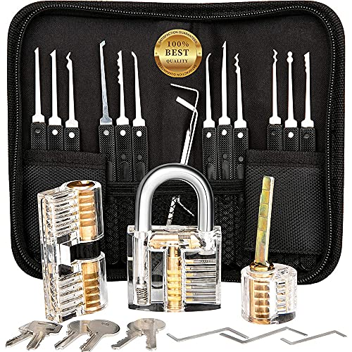 Household 17 Pieces Handle Tool Set with Professional Kit Lock 3 and Handbag