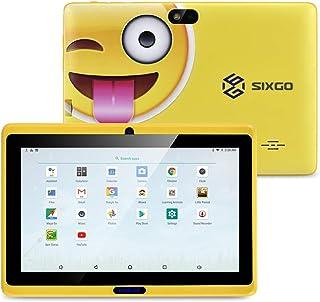 SIXGO Tablet per bambini da 7 pollici, Android Pad Tablet Kids Edition con doppia fotocamera WiFi 1 GB + 16 GB di sicurezz...