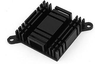 sourcing map Disipador de Calor Radiador de Ordenador Aluminio Puente Norte Sur Conjunto de Chips Negro Refrigeración