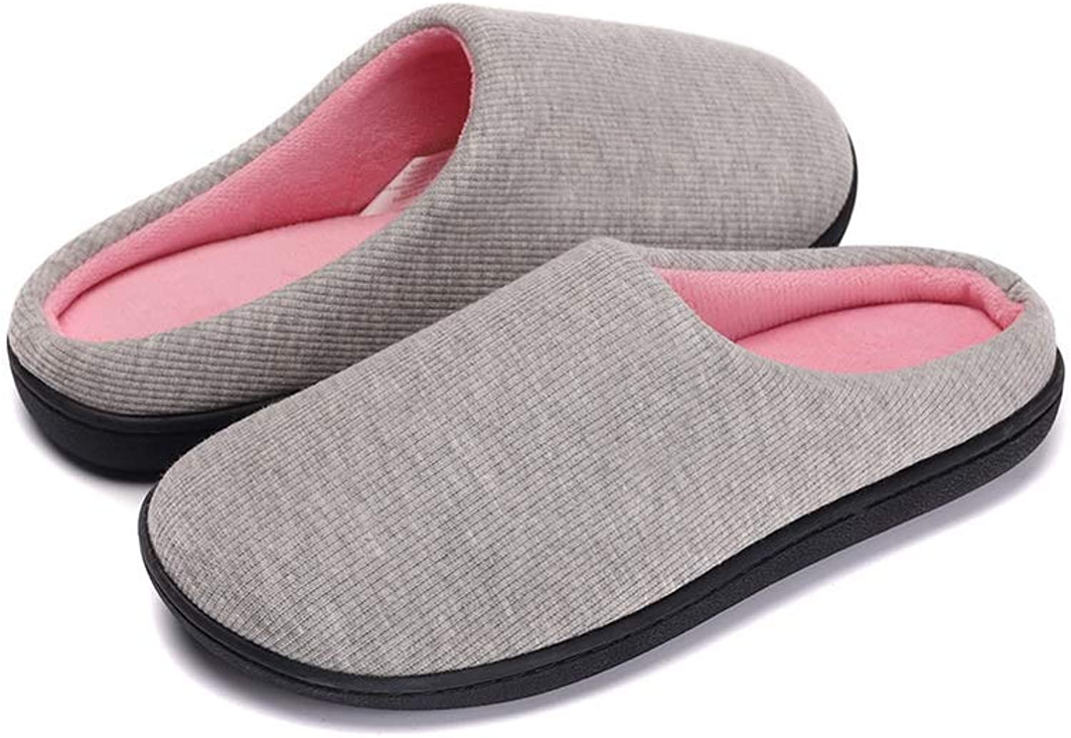 Kanarder Womens Slipper Memory Foam Fluffy Slip-on House Fleece Fur Lined Anti-Skid Sole, Indoor & Outdoor