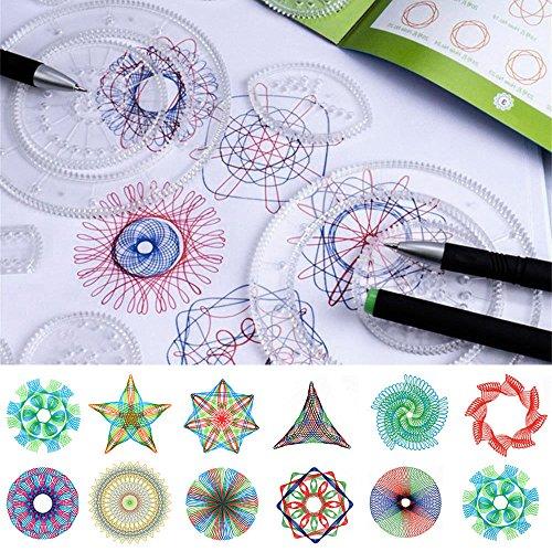 ODOMY Juego de Spirograph Deluxe con Espirógrafo Regla geométrica para diseño de...