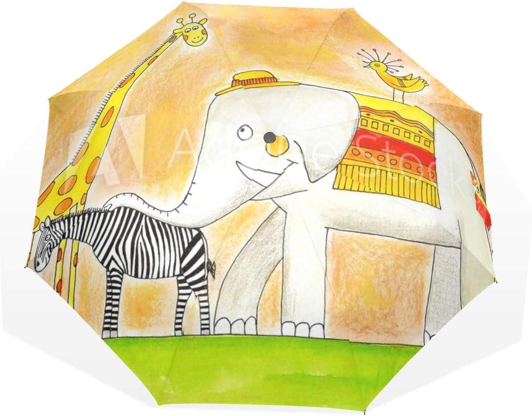Compact Folding Time El Paso Mall sale Umbrella Animals Sun Rain Protable Umbr Travel