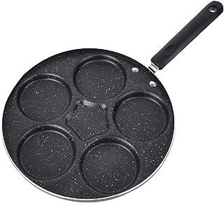 Huevo frito Sartén Huevos espesados Panqueque Sartén Máquina de desayuno Filete 5 hoyos Utensilios de cocina Parrilla Sartén Antiadherente Gas a domicilio