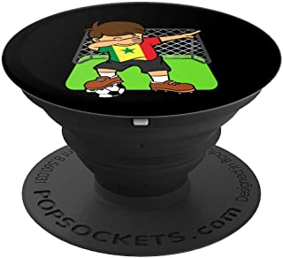 Senegal Soccer Ball Funny Dabbing Senegalese Football Player - PopSockets Grip and Stand for Phones and Tablets