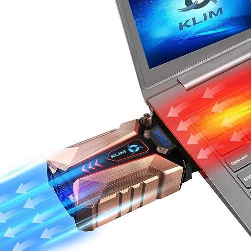 KLIM Cool - Base de Refrigeración para Portátil en Metal - La más Potente - USB