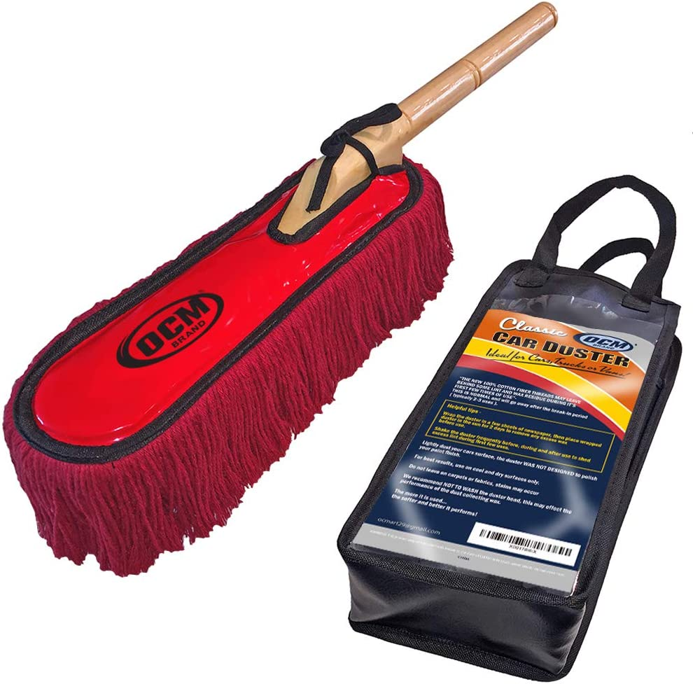 OCM Brand Classic Car Duster with Under blast sales Includes 2021 spring and summer new Wood Handle Solid Sto