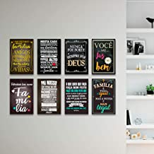 Kit 8 Placas Decorativas Frases