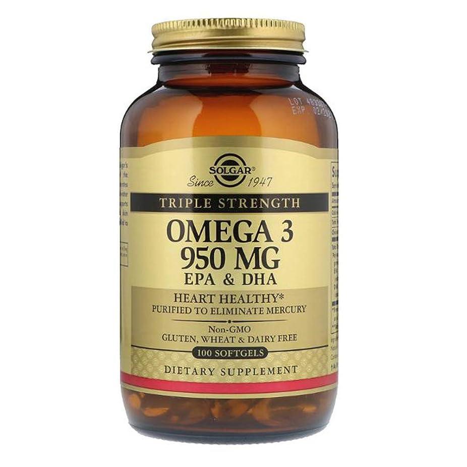 有名受粉する臭いSolgar オメガ 3 EPA DHA トリプルストレングス 950mg 100ソフトジェル 【アメリカ直送】