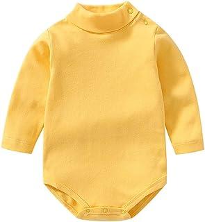 Sponsored Ad - Baby Boy Girl Black Long Sleeve Shirt Bodysuit Turtleneck Romper Winter Clothes Toddler Fall Pajama Layer Top