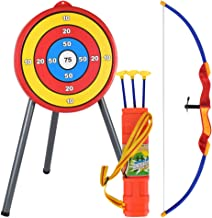 LIOOBO Archery Toy Set - Include Target, Bow, Arrow - Durable Archery Game - Indoor Outdoor Toys, Garden Fun Game for Kids Age 6 and Up