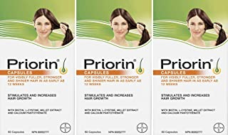 Priorin Caps 60's - Pack of 3 - Sealed Manufacturer Case Pack