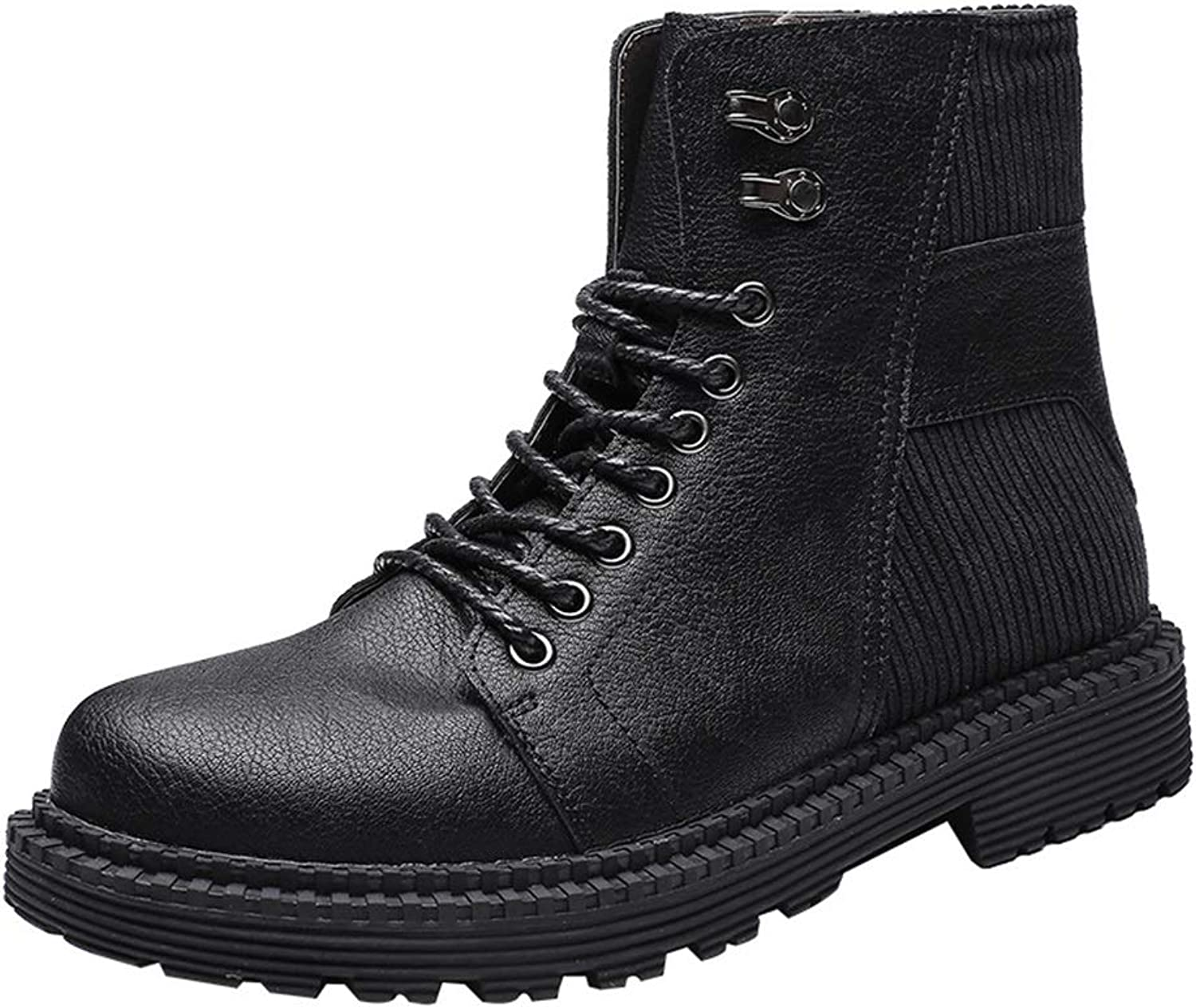 Men's shoes Men's Boots, Fall Winter New Retro Martin Boots Men's High-top Booties Casual Fashion Wild Large Size Boots 38-46 Men's Fashion Boots (color   A, Size   40)