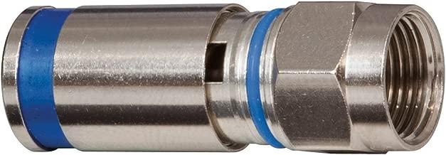 Klein Tools VDV812-623 Standard Compression Connector, RG6/6Q, Male, 10 Pack