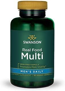 Real Food Multi Men's Multivitamin Multimineral Men's Health Prostate Stress Response Bladder Support Supplement Vegan Gluten-Free Non-GMO 90 Veggie Capsules Veg Caps
