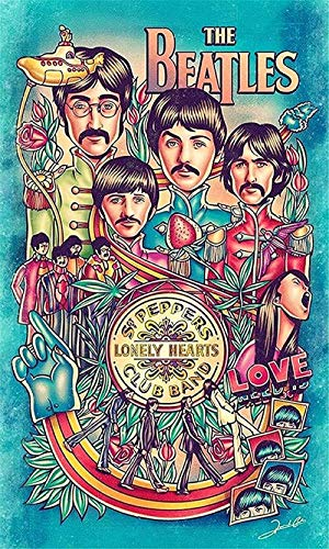 HBGLX Diy 5D completo diamante pintura Beatles taladro redondo completo punto cruz bordado mosaico artes para, exquisito regalo decoración Halloween 40X50Cm