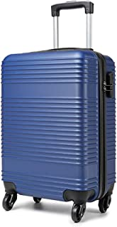 Kono Carry On Suitcase Hand Cabin Luggage Lightweight with Durable 4 Spinner Wheels, 20'' Navy, K1996 NY 20