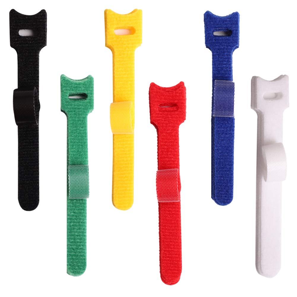 120 Bridas de Cable Reutilizables, para ordenar ordenar y Envolver ...
