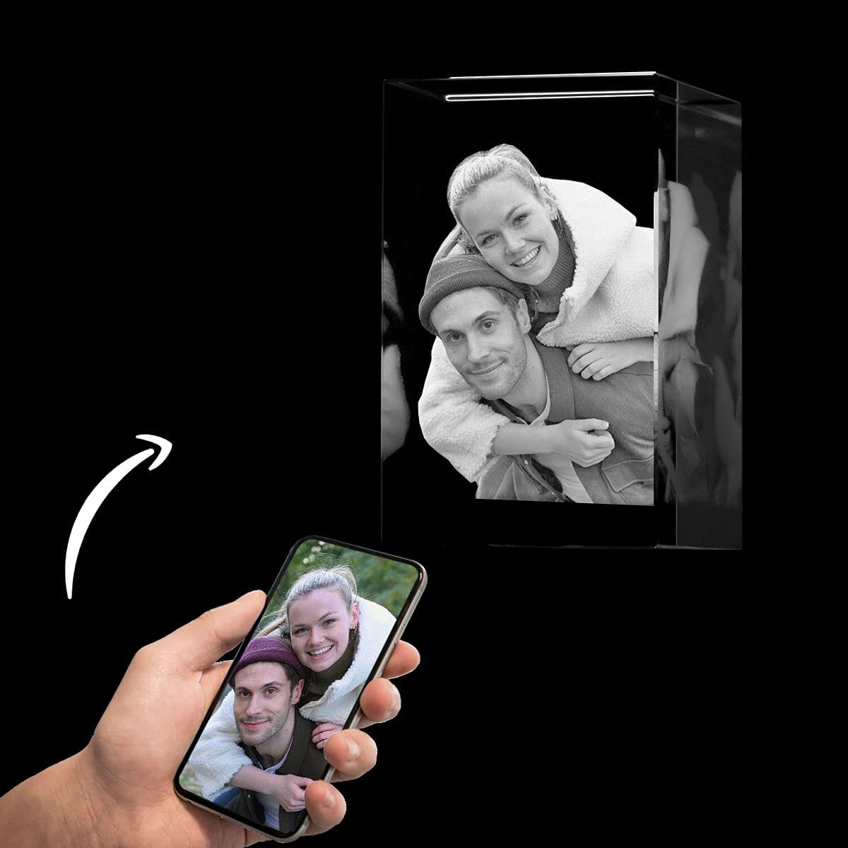3D Crystal Photo Branded goods Personalized Engrave Recta Picture inside Max 57% OFF frame