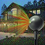 Auxiwa Christmas Laser Lights Projector Outdoor Lazer Projection Light Waterproof Projectors Led Landscape Spotlight Xmas Show Display for Holiday Decorations (Green and Red)