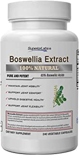 Superior Labs Boswellia Extract - Pure NonGMO Boswellic 65% Acids w/Bioperine Superior Absorption Zero Synthetic Additives...