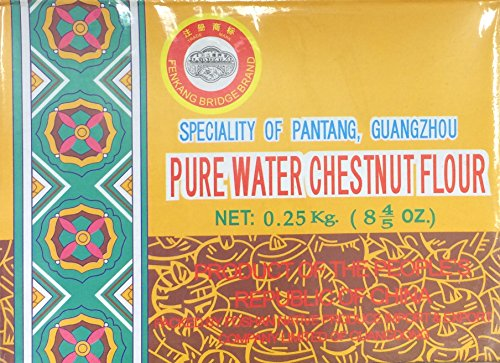 0.25 Kg Pure Water Chestnut Flour by Fenkang Bridge Brand, Pack of 1